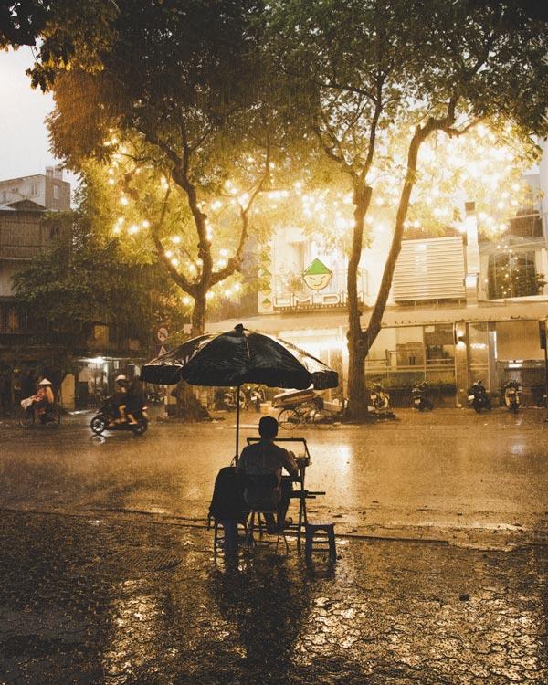 hanoi in rain and winter