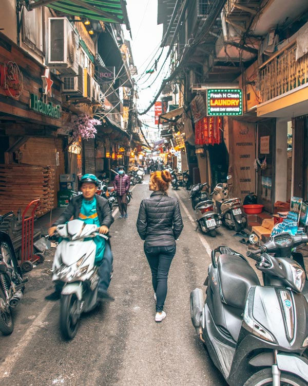 traveling in vietnam. hanoi-streets