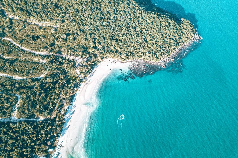 sao beach drone shot phu quoc