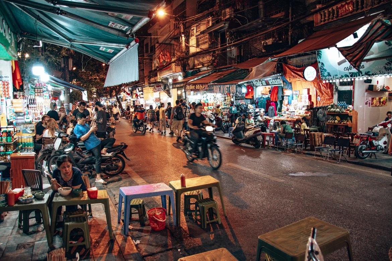 Vietnam streets of hanoi