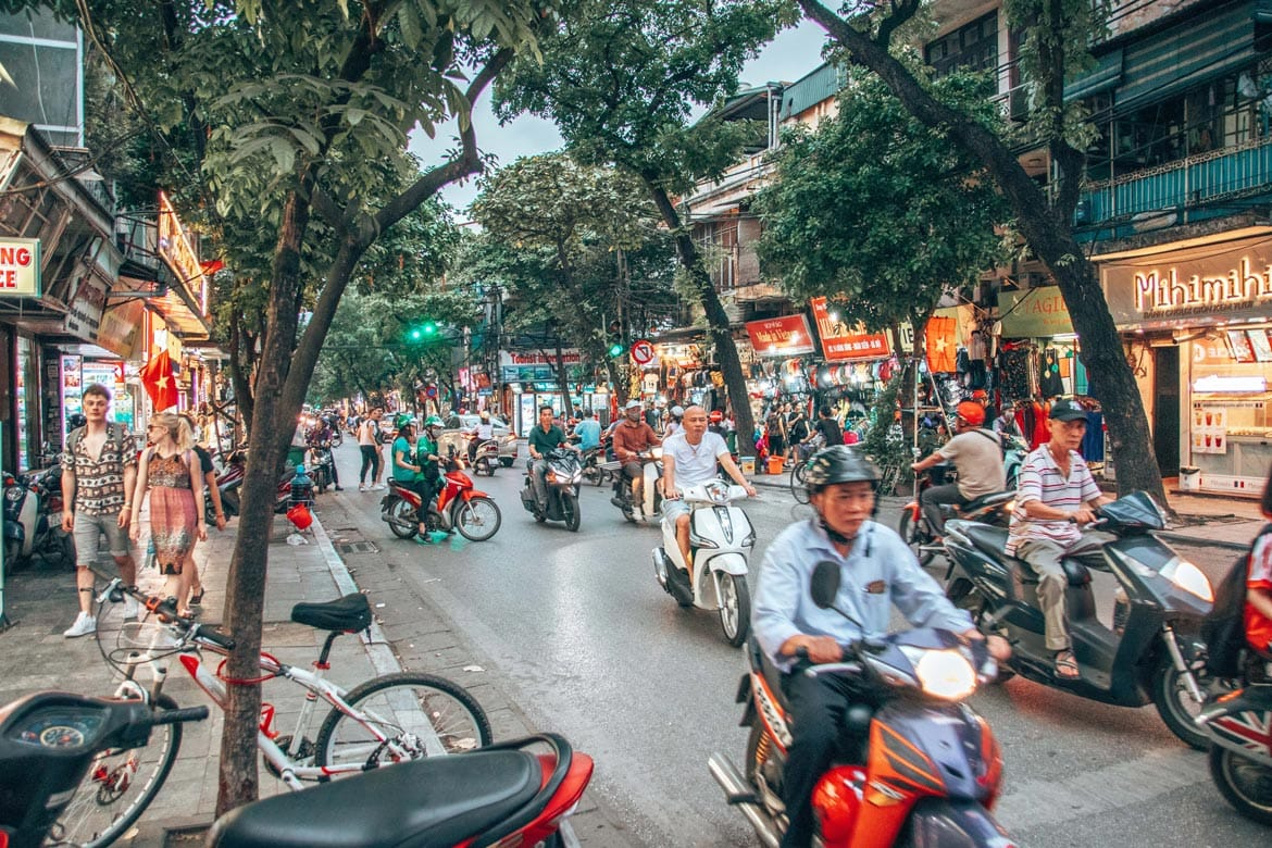 Traveling in Vietnam roads and Traffic