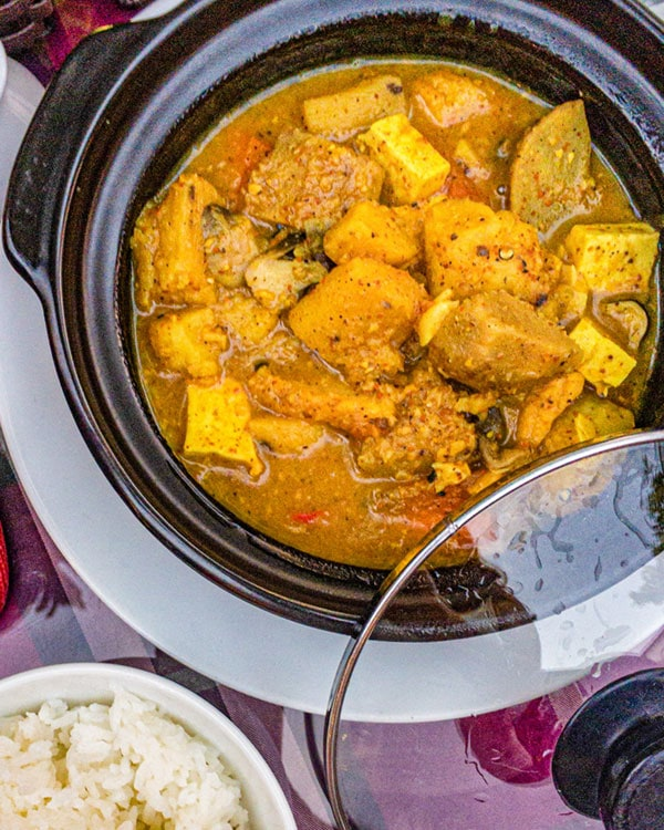 Bali curry and rice food