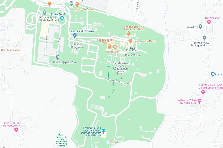 GWK Cultural park map