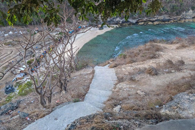 Atuh Beach Nusa Penida stairs
