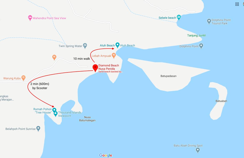 Diamond Beach Map